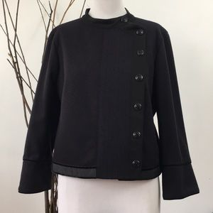 Zara Woman Wool Blazer with Pockets and Snaps